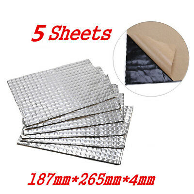 5 Sheets 375mm*270mm*4mm Car Deadening Vibration Sound Proofing Damping Mat