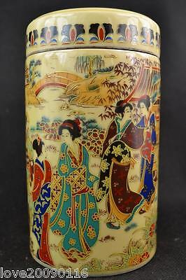 Old Collectible Decorated Handmade Jingdezhen Porcelain Drawing Dowager Big Pot