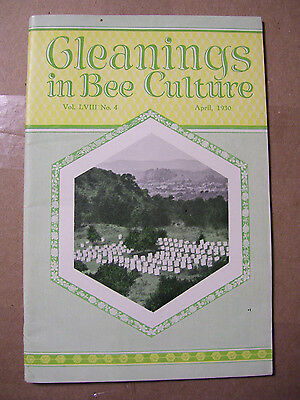April 1930 Gleanings In Bee Culture Magazine Honey Agriculture