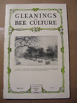 February 1928 Gleanings In Bee Culture Magazine Honey Agriculture