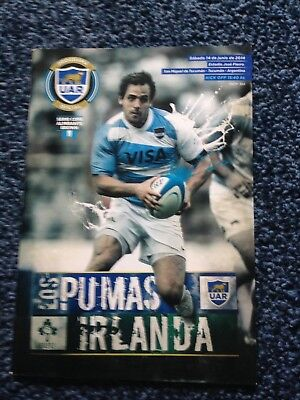 Argentina v Ireland rugby programme, second 2014 Test in Tucuman