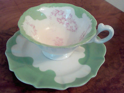 Early Coalport Gillman And Collamore Cup And Quarter Plate