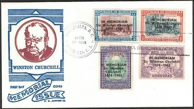 1965, Honduras, Winston Churchill Memorial Issue, First Day Cover.