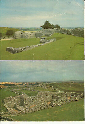 2 Tatty Old Postcard Of Old Sarum,  Wiltshire, Unposted