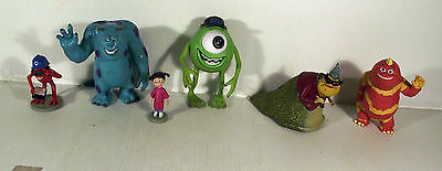 6 x MONSTERS INC PLASTIC FIGURES BOO SULLEY MIKE ROZ FUNGUS GEORGE