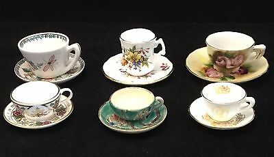 Collection of 6 x Miniature Collectors Cups & Saucers - Spode & Hammersley