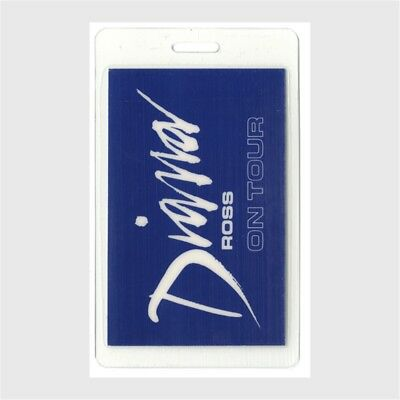Diana Ross authentic 1983 Tour Laminated Backstage Pass Supremes Motown original