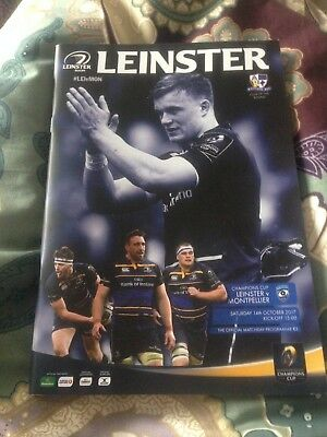 Leinster v Montpellier European Champions Cup rugby programme October 2017