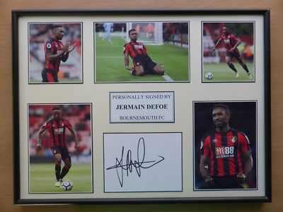 2017-18 Jermain Defoe Signed Bournemouth Multi Picture Display (11627)