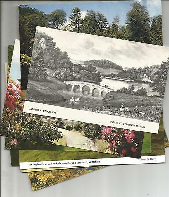 9 Postcards Of Stourhead Gardens, Mere, Wiltshire