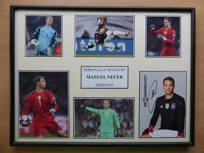 Manuel Neuer Signed Germany Multi Picture Career Display - Bayern Munich (11632)