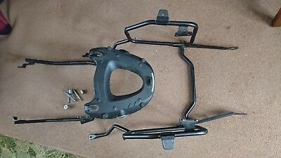Motorcycle pannier frame and top box rack