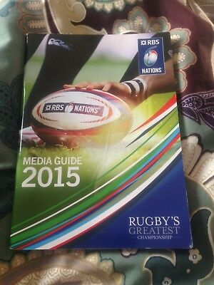Six Nations rugby tournament media guide programme 2015, title won by Ireland