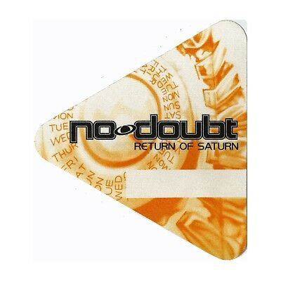 No Doubt Authentic 2000 Return of Saturn Tour satin Backstage Pass triangle
