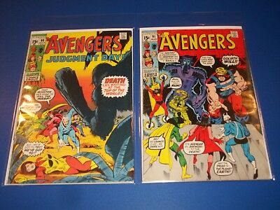 Avengers #90,91 Bronze age lot of 2 Captain Marvel