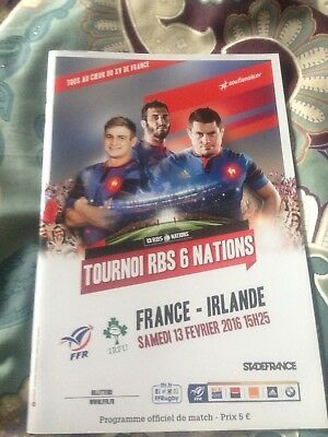 France v Ireland Six Nations rugby programme 2016