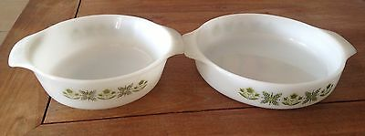 Vintage 2 Plats Arcopal Made in USA
