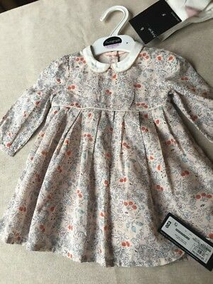 Baby Girl Pink Autumn Dress With Tights 3 - 6 Months M&S Autograph BNWT