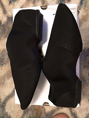 DSI Ever-Jazz Black Style #51 Dance/COLORGUARD Shoes W11 M9 Worn Once in box EUC