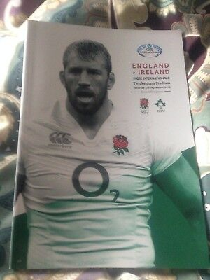 England v Ireland rugby World Cup warm-up match programme 2015