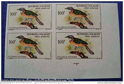 MADAGASCAR stamp aerial scn and tellier no.90 not serrated - Block 4 - n
