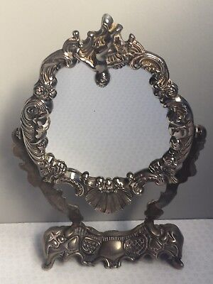 Vintage Decorative Silver Plated Dressing Table Vanity Swing Mirror
