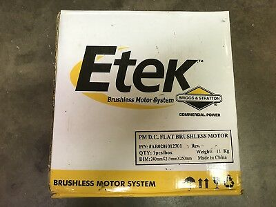 Etek Briggs & Stratton PM D.C. FLAT BRUSHLESS MOTOR - New in box #AB0201012701