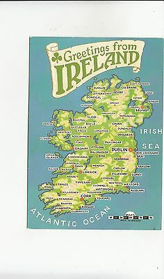BF29529 map cartes geographiques    ireland   front/back image