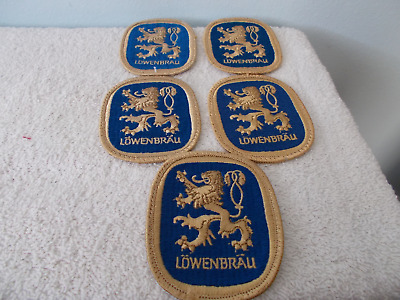 5 Lowenbrau Embroidered Beer Patches