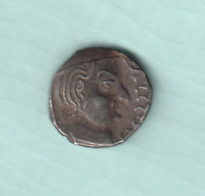 India 2000 Years Old Extremely RARE Western Kshatrapas Silver Ancient Coin 98