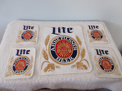 Lite Beer Embroidered Patches