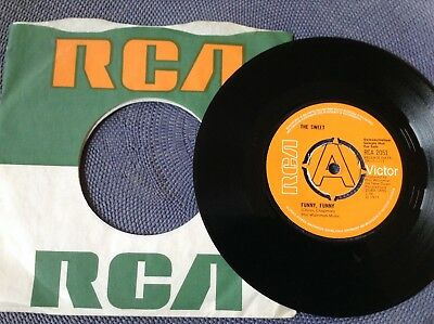 THE SWEET - FUNNY FUNNY rare UK 1971 DEMO PROMO / GLAM ROCK / NEAR MINT !!!