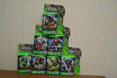 Mega-Bloks Teenage Mutant Ninja Turtles Einzelfiguren 7 Stück  NEU&OVP  DPW17