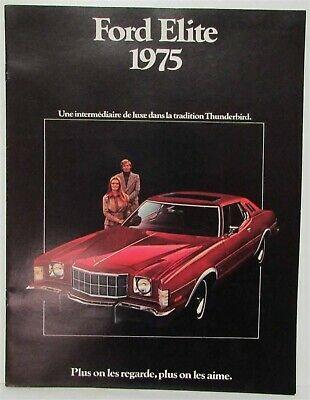 1975 Ford Elite Sales Brochure - Canadian - French Text