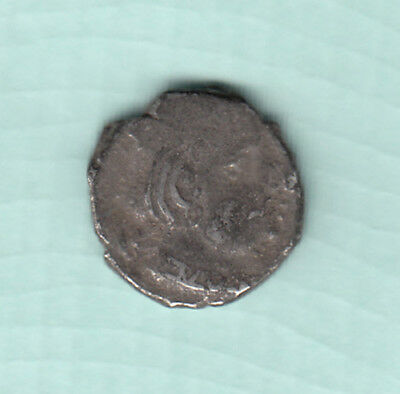 India 2000 Years Old Extremely RARE Western Kshatrapas Silver Ancient Coin A27