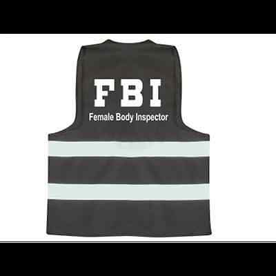 Bulk Sale Of 12 Fbi Female Body Inspector Vest Xmas Stag Hen Party £10!!
