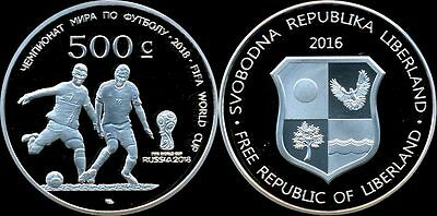 Liberland  500 cents 2016  (Unusual)  FOOTBALL  2018   FIFA World Cup Soccer