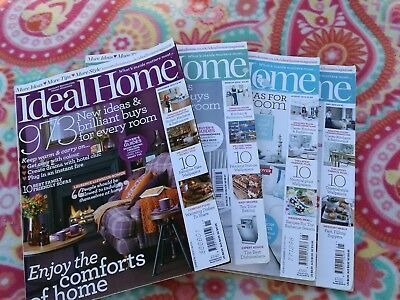 Ideal home magazine bundle 4 issues 2012/13
