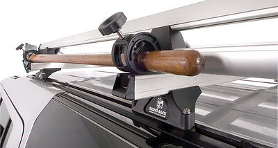 Rhino Pair of Heavy Duty Shovel Holders for Roof racks