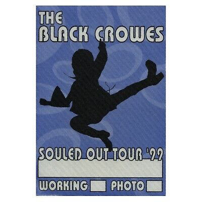Black Crowes Authentic 1999 Souled Out Tour satin cloth Backstage Pass sticky