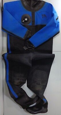 Slaters Aqua Sports Diving Drysuit Dry Suit with Rear Zip Entry