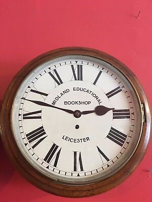 Antique Fusee Dial Wall Clock - Leicester - Full Working Order