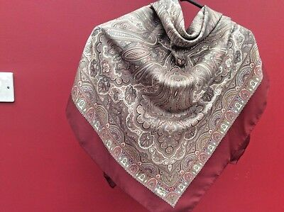 Liberty London. Lovely Large  Vintage Silk Scarf- Paisley Pattern