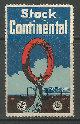 STOCK CONTINENTAL advertising stamp/label (Tyres)