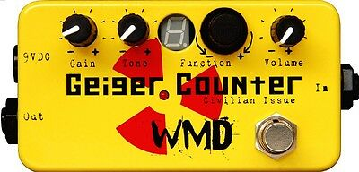 WMD GEIGER COUNTER CIVILIAN ISSUE - Crazy distortion filter EQ effect pedal mxr