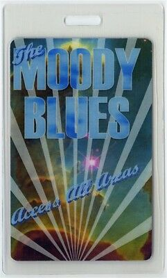 Moody Blues authentic concert tour Laminated Backstage Pass ALL ACCESS original