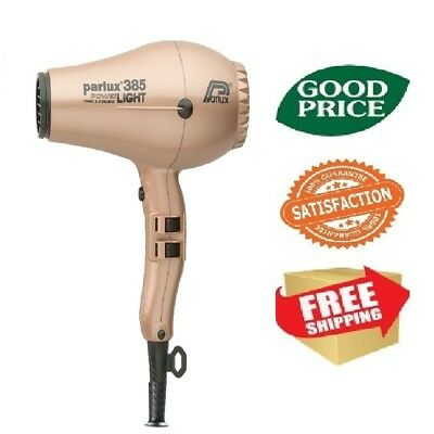 Parlux 385 Power Light Ceramic & Ionic Hair Dryer - Light Gold NEW FREE SHIPING