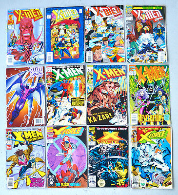 Lot of Dozen 1990s Used Comic Books Marvel X-Men 2099 Etc 1960s Second Printings