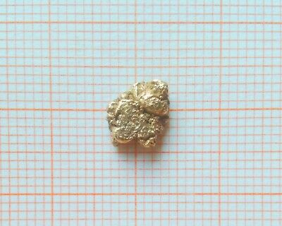 0.73 GRAMS 22ct NATURAL PURE GOLD NUGGET PEPITA D'ORO PEPITE D'OR