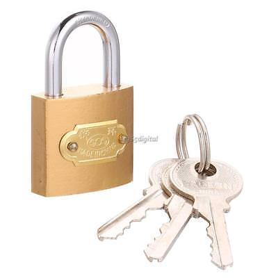 50 MM Heavy Duty Waterproof Steel Shackle Outdoor Security Padlock Lock+ 3 Keys